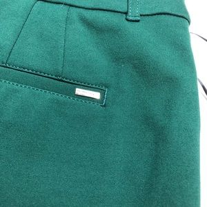 White House Black Market Pants - NWT WHBM hunter green ponte pants, slim ankle